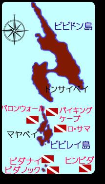 プーケット日帰りダイビング ピピ島 地図