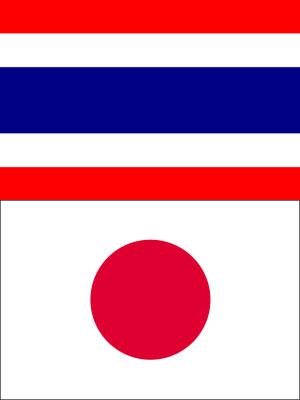 タイと日本の国旗